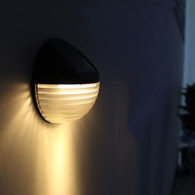 abordables Éclairage Extérieur-1pc 0.3 W Imperméable / Solaire / Contrôle de la lumière Blanc / Jaune chaud 1.2 V 6 Perles LED