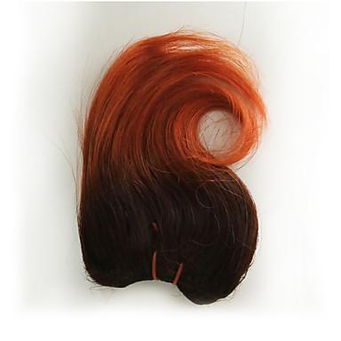 baratos Extensões de Cabelo Natural-4 pacotes Cabelo Brasileiro Ondulado Cabelo Humano Tecer 8 polegada Tramas de cabelo humano Extensões de cabelo humano