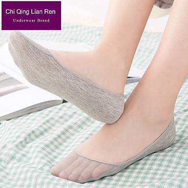 abordables Accessoires pour Chaussures-2 paires Femme Chaussettes Standard Couleur Pleine Leg Shaping Style Mignon Coton EU36-EU46