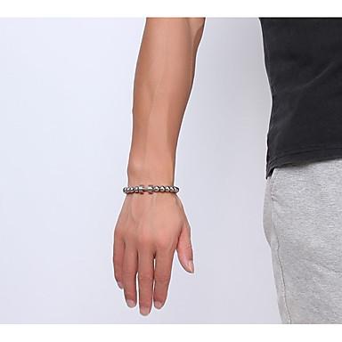 voordelige Herensieraden-Heren Dames Armbanden met ketting en sluiting Dikke ketting Kostbaar Dumbbell Statement Eenvoudig Uniek ontwerp modieus Rock Roestvrij staal Armband sieraden Zilver Voor Lahja Dagelijks Carnaval