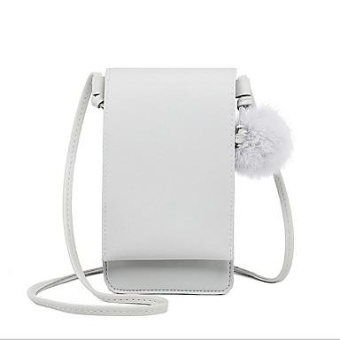 abordables Sacs-Femme Pom pom PU Mobile Bag Phone Rose Claire / Gris / Marron