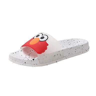 voordelige Damespantoffels & slippers-Dames Slippers & Flip-Flops Platte hak Open teen PVC Informeel Zomer Geel / Rood / Groen