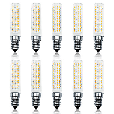 abordables Ampoules électriques-Loende 10 pack 11w gradation led maïs lumières 110-130v 200-240v 750lm e14 136leds led lampe smd2835 blanc / blanc chaud