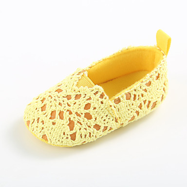 baratos Sapatos de Criança-Para Meninas Tricô Rasos Crianças (0-9m) / Criança (9m-4ys) Primeiros Passos Branco / Fúcsia / Preto Primavera / Verão