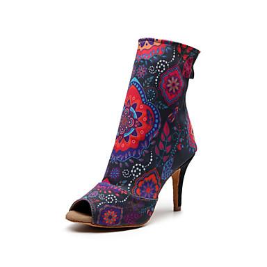 baratos Shall We® Sapatos de Dança-Mulheres Sapatos de Dança Sintéticos Botas de Dança Recortes Salto Salto Alto Magro Personalizável Arco-íris / Espetáculo / Ensaio / Prática