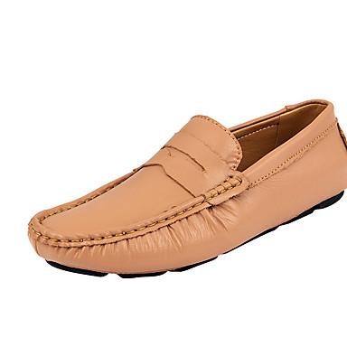 Erkek Ayakkabı Domuz Derisi İlkbahar yaz İş / Günlük Mokasen & Bağcıksız Ayakkabılar Günlük / Ofis ve Kariyer için Siyah / Çıplak / Mavi