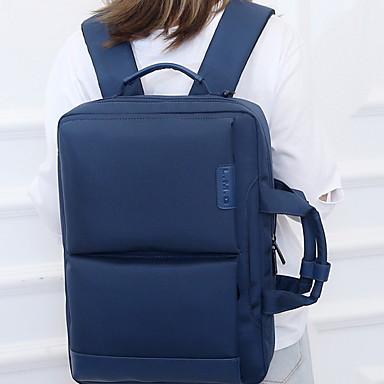 billige Vesker-Oxfordtøy Glidelås Laptopveske Helfarge Daglig Svart / Himmelblå