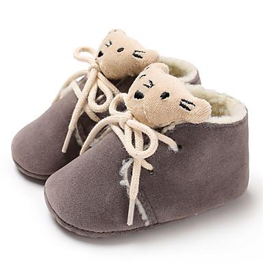 povoljno Dječje čizme-Dječaci / Djevojčice Platno Čizme Dojenčadi (0-9m) / Dijete (9m-4ys) Cipele za bebe Pink / Crveni Drak / Badem Zima