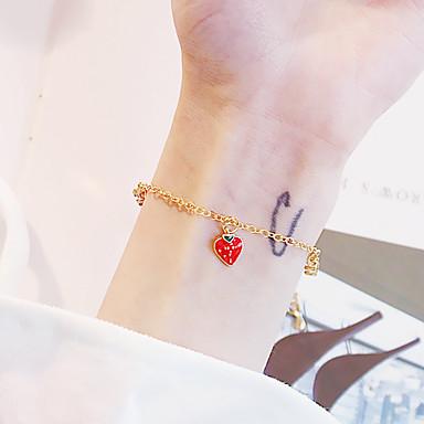 abordables Bracelet-Bracelets Vintage Boucles d'oreilles / Bracelet Bracelet Pendentif Femme Classique Fraise simple Classique Rétro Vintage Mode Le style mignon Bracelet Bijoux Dorée pour Quotidien Ecole Plein Air
