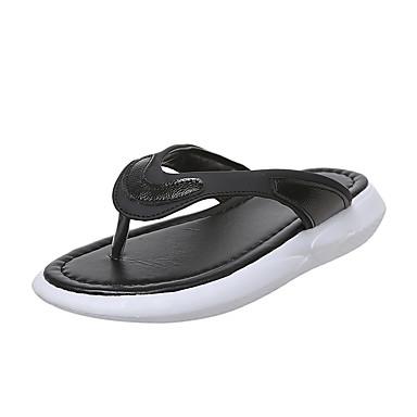 voordelige Damespantoffels & slippers-Dames Slippers & Flip-Flops Platte hak PU Zomer Zwart / Roze