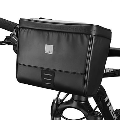 abordables Sacoches de Vélo-Sacoche de Guidon de Vélo 6.2 pouce Ecran tactile Portable Bandes Réfléchissantes Cyclisme pour iPhone 8/7/6S/6 iPhone 8 Plus / 7 Plus / 6S Plus / 6 Plus iPhone X Noir Cyclisme / Vélo