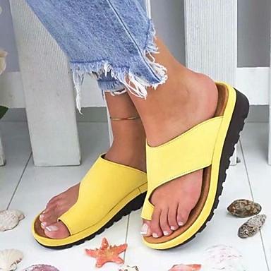 voordelige Damespantoffels & slippers-Dames Slippers & Flip-Flops Lage hak PU Zomer Zwart / blauw / Luipaard / Paars