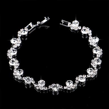 abordables Bracelet-Bracelets Tennis Rivière de Diamants Bracelet Femme Rivière de Diamants Imitation Diamant Fleur simple Européen Mode Elégant Bracelet Bijoux Argent pour Mariage Soirée Fiançailles Cadeau Quotidien