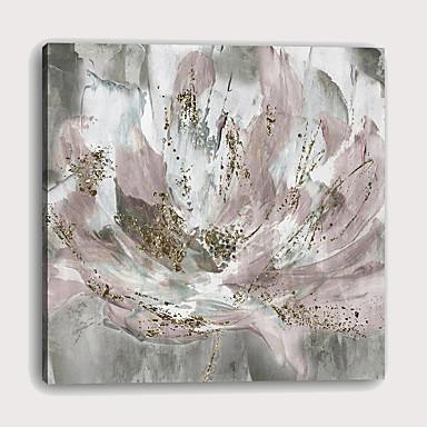 billige Trykk-Trykk Strukket Lerret Trykk - Abstrakt Botanisk Moderne Kunsttrykk