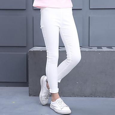 baratos Calças & Leggings para Meninas-Infantil Para Meninas Activo Básico Sólido Algodão Calças Rosa