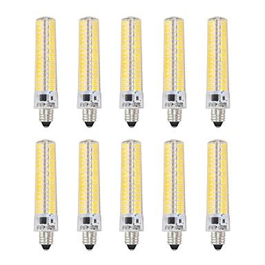 abordables Ampoules électriques-10pcs 5 W Ampoules Maïs LED 1000-1200 lm E11 T 136 Perles LED SMD 5730 Intensité Réglable Décorative Blanc Chaud Blanc Froid 220 V 110 V
