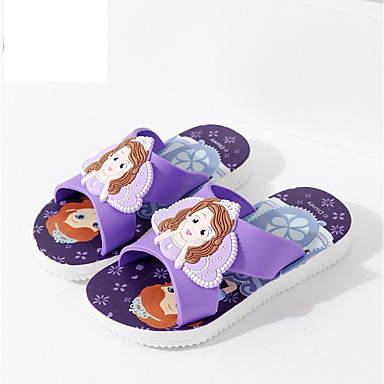 hesapli Kız Çocuk Ayakkabıları-Genç Erkek / Genç Kız PVC Terlik & Flip-flops Bebek (9 milyon 4ys) / Küçük Çocuklar (4-7ys) Rahat Mavi / Pembe / Açık Mavi Bahar / Yaz