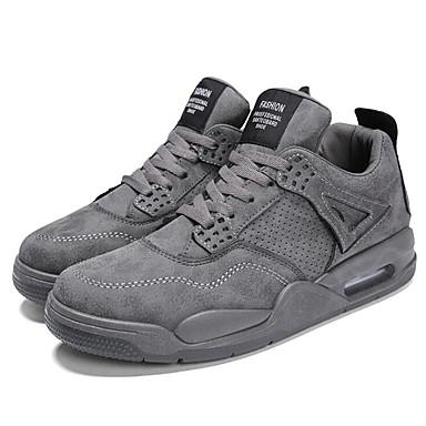 Erkek Ayakkabı PU Bahar / Sonbahar Atletik Ayakkabılar Yürüyüş Günlük / Ofis ve Kariyer için Siyah / Yeşil / Gri