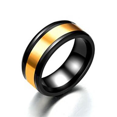 voordelige Herensieraden-Heren Bandring Ring Staartring 1pc Zwart Roestvast staal Titanium Staal Cirkelvormig Standaard Modieus Lahja Dagelijks Sieraden Cool