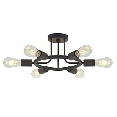 JSGYlights 6-Işık Mini / Sanayi Gömme Montajlı Işıklar Ortam Işığı Eloktrize Kaplama Boyalı kaplamalar Metal Mini Tarzı, Yeni Dizayn 110-120V / 220-240V