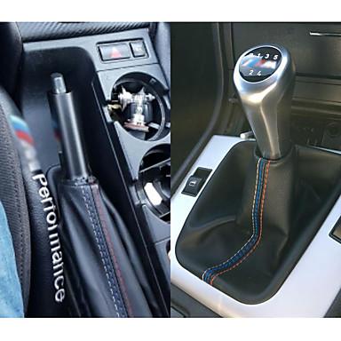 voordelige Auto-interieur accessoires-2 stks / set handrem gaiter shift boot lederen boot mouw voor bmw 3 serie e36 e46 m3