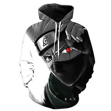 Naruto Cosplay Palto Terylene Desen Uyumluluk Erkek / Kadın's