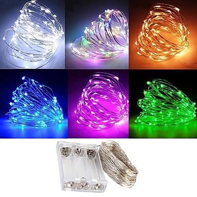 billige LED-stringlys-zdm vanntett 3m 30 led 3aa batteri fe streng lys firefly lys christmas dekor jul lys flere farger