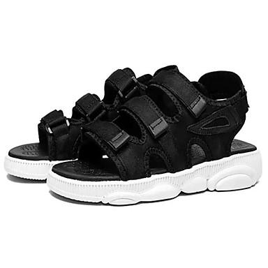 baratos Super Ofertas-Homens Sapatos Confortáveis Sintéticos Verão Sandálias Branco / Preto / Arco-íris
