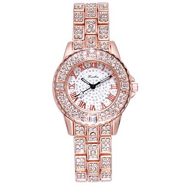 baratos Relógios Senhora-Mulheres Bracele Relógio Brilhante Fashion Prata Dourada Ouro Rose Aço Inoxidável Chinês Quartzo Dourado Prata Rosa Dourado Relógio Casual imitação de diamante 1 Pça. Analógico