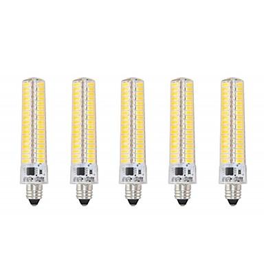 abordables Ampoules électriques-5pcs 5 W Ampoules Maïs LED 1000-1200 lm E11 T 136 Perles LED SMD 5730 Intensité Réglable Décorative Blanc Chaud Blanc Froid 220 V 110 V