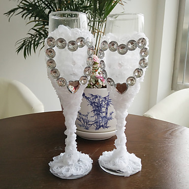 abordables Flûtes à Champagne-Verre Flûtes grillage Boîte à cadeau Thème plage / Thème jardin / Vintage Theme Toutes les Saisons