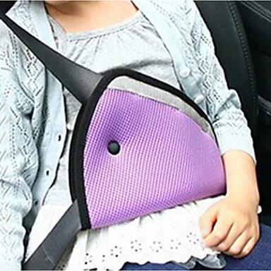 voordelige Auto-interieur accessoires-driehoek kinderen veiligheidsgordel afstelling auto veiligheidsafdekking riem fixeer pad harnas