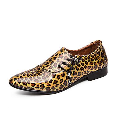 Erkek Ayakkabı PU Bahar / Sonbahar İş / Günlük Mokasen & Bağcıksız Ayakkabılar Parti ve Gece / Ofis ve Kariyer için Mor / Altın / Mavi / Leopar