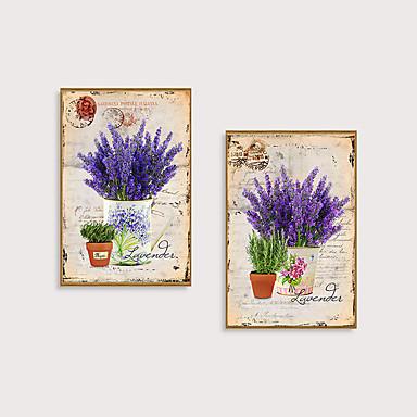 Çerçeveli Sanat Baskısı Çerçeve Seti - Çiçek / Botanik Polisitren Çizim Duvar Sanatı