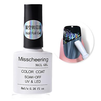 voordelige Nagelgereedschap & Apparatuur-nagelfolie zelfklevende lijm 8ml sterrenhemel sticker transfer lijm nail art accessoire geen behoefte aan uithardende UV-lamp
