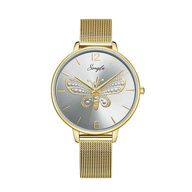 baratos Relógios Homem-Mulheres Relógios de aço Quartzo Aço Inoxidável Dourada 30 m Impermeável Relógio Casual Analógico Casual Borboleta - Cinzento Um ano Ciclo de Vida da Bateria