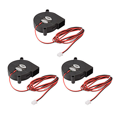 voordelige Elektrische apparatuur & benodigdheden-3 stks borstelloze dc12v 5015 koeling blower afzuigventilator 2-pin voor 3d-printer