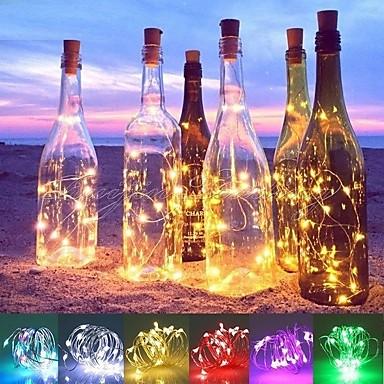 povoljno Nova kolekcija-2m Žice sa svjetlima 20 LED diode SMD 0603 Toplo bijelo / Bijela / Plavo Vodootporno / Ukrasno / Vjenčanje Baterije su pogonjene 1pc
