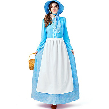 Sömürge Kızı Kostüm Kadın's Peri Masalı Teması Cadılar Bayramı Performans Cosplay Kostümleri Tema Partisi Kostümler Kadın's Dans kostümleri Polyester Dantel