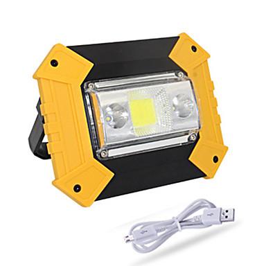 abordables Éclairage Extérieur-1 pc 20 w cob éclairage usb charge de camping en plein air lumière d'urgence portable lumière mobile recherche puissance lampe de pelouse imperméable