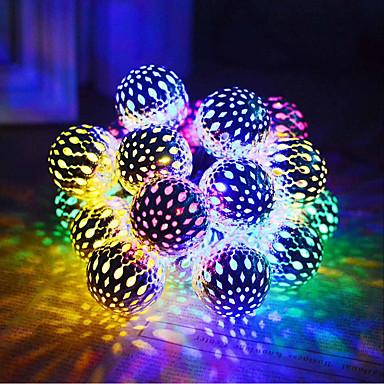 billige Utendørsbelysning-sollys fargerike led baller lys lys dekorasjoner for fest hjem hage utendørs