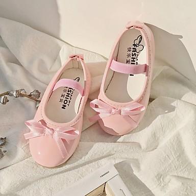 baratos Sapatos de Criança-Para Meninas Couro Ecológico Rasos Little Kids (4-7 anos) Sapatos para Daminhas de Honra Preto / Vermelho / Rosa claro Verão