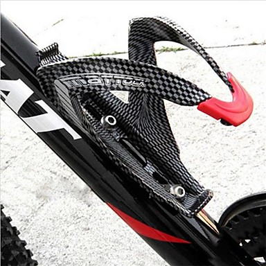 abordables Accessoires de Vélo-Vélo Bouteille d'eau Cage Fibre de carbone Pour Cyclisme Fibre de carbone Noir 1 pcs