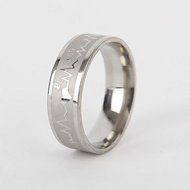 voordelige Herensieraden-Heren Dames Bandring Ring Staartring 1pc Zilver Titanium Staal Cirkelvormig Vintage Standaard Modieus Lahja Sieraden