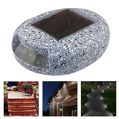 billige Utendørsbelysning-1pc 1 W plen Lights Vanntett / Solar / Dekorativ Hvit 1.2 V Svømmebasseng / Courtyard / Have 1 LED perler