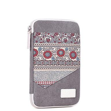 abordables Sacs-Unisexe Fermeture Toile Mobile Bag Phone A Fleur Vin / Gris Claire / Bleu