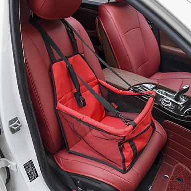 voordelige Auto-interieur accessoires-dierbenodigdheden honden gaas hang tas oxford doek ademende stoel huisdier auto kussen