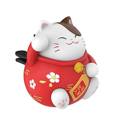 voordelige Auto-interieur accessoires-gelukkige kat auto outlet aromatherapie creatieve auto parfum cartoon pop naast geur ornamenten ornamenten