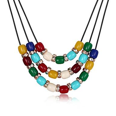 billige Mote Halskjede-Dame Resin Anheng Halskjede geometriske Ball Mote Harpiks Regnbue 50+6 cm Halskjeder Smykker 1pc Til Daglig