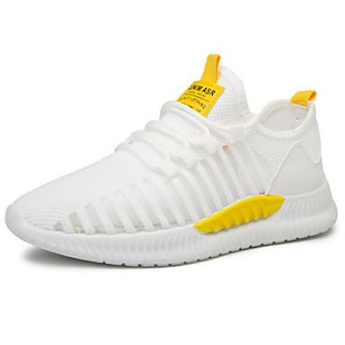 Erkek Ayakkabı Sentetikler Bahar / Yaz Atletik Ayakkabılar Günlük / Ofis ve Kariyer için Siyah / Beyaz